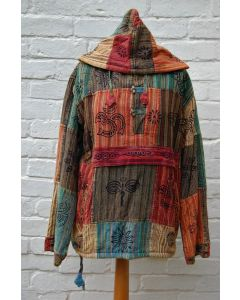 Patchwork & Print Fleece Lined Top